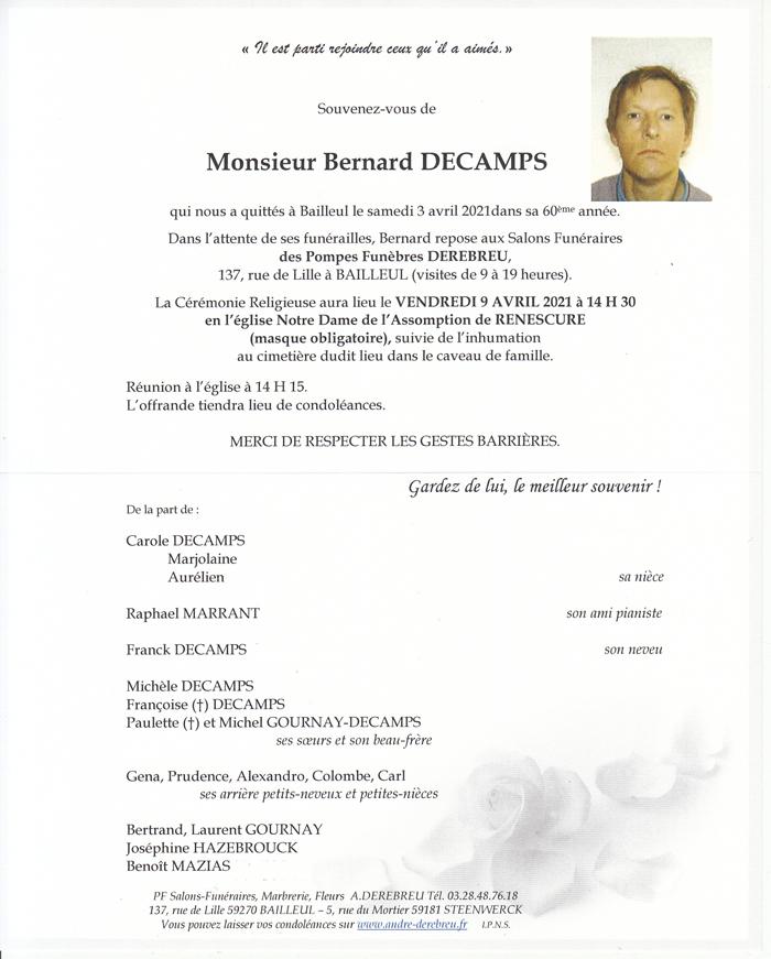DECAMPS Bernard