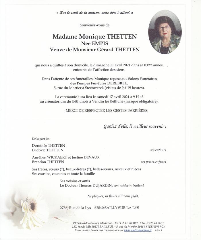 THETTEN Monique née EMPIS