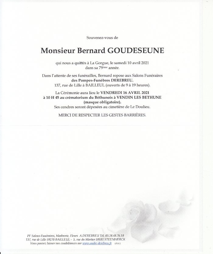GOUDESEUNE Bernard