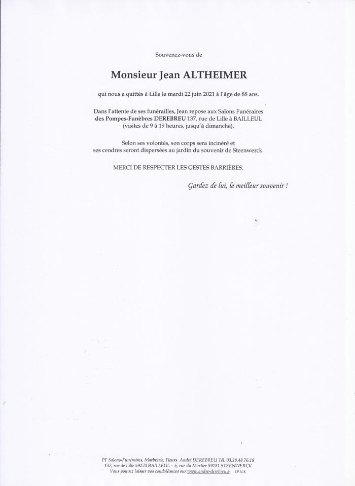 ALTHEIMER Jean