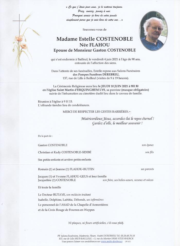 COSTENOBLE Estelle        Née FLAHOU