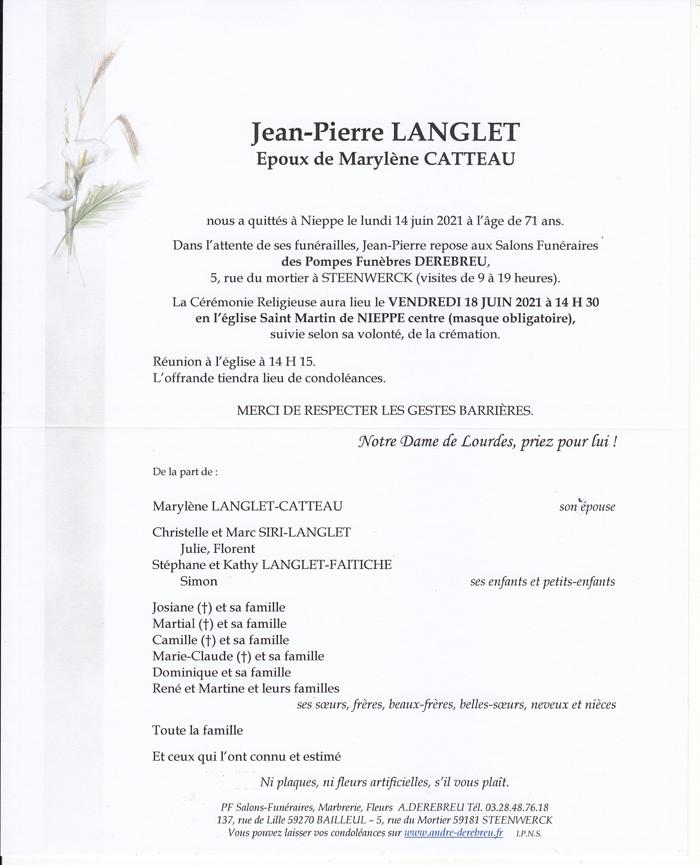 LANGLET Jean-Pierre