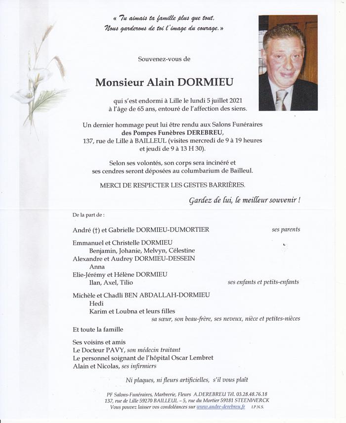 DORMIEU Alain