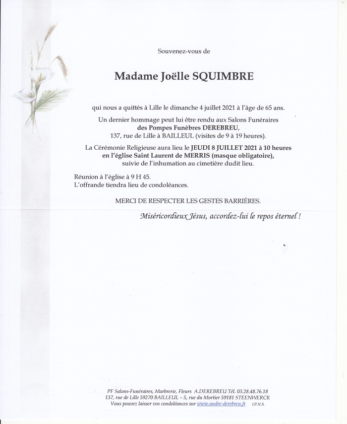 SQUIMBRE Joëlle
