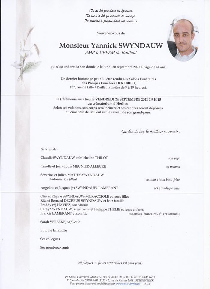 SWYNDAUW Yannick