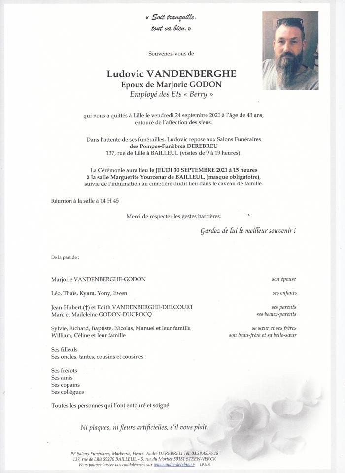 VANDENBERGHE Ludovic