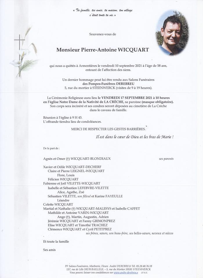 WICQUART Pierre-Antoine