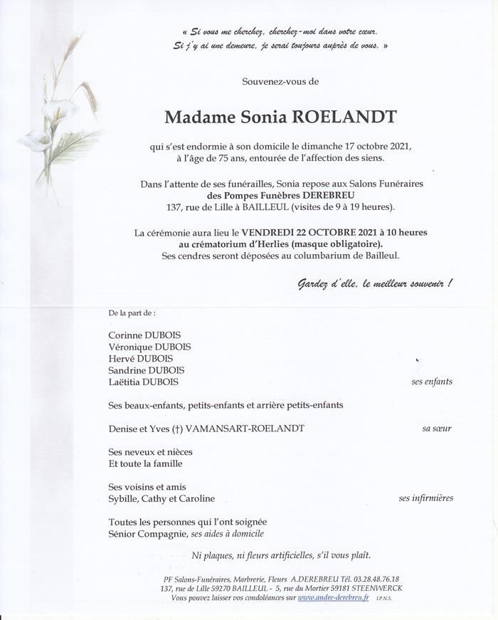 ROELANDT Sonia