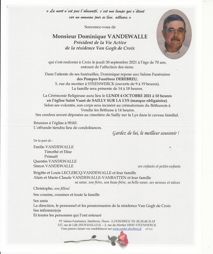 VANDEWALLE Dominique